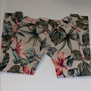 New york & company stretch size 0 floral pants